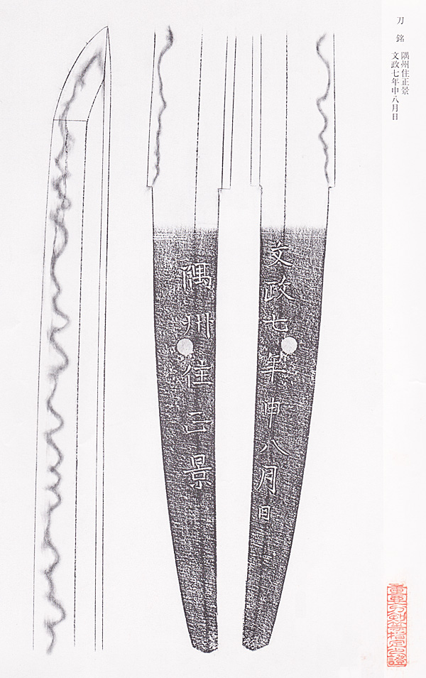 刀剣杉田、日本刀、重要刀剣、隅州住正景