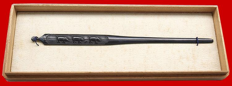 日本刀、三疋猪図割笄 無銘 宗乗 (第18回重要小道具)