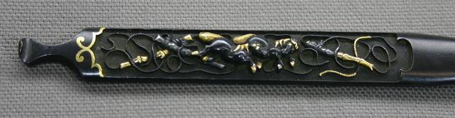 馬図笄 無銘 古美濃 保存刀装具