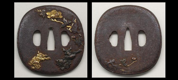 日本刀、重要刀剣、越前守法城寺正照、鍔