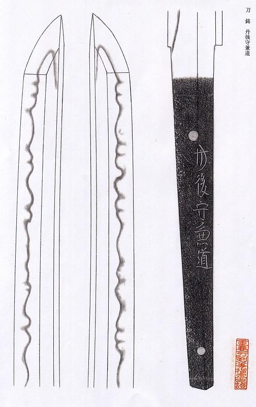 日本刀、重要刀剣、丹後守兼道、図譜