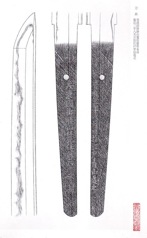日本刀、重要刀剣、御勝山永貞、図譜