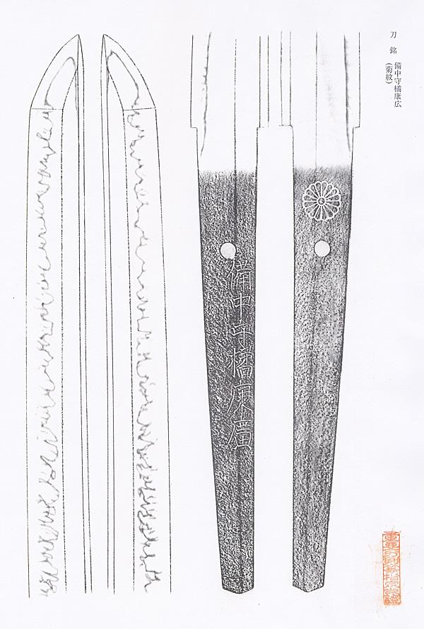 日本刀、重要刀剣、備中守橘康廣、図譜