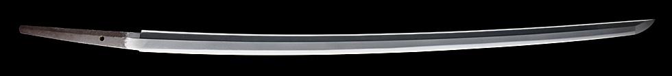 日本刀、於大坂和泉守國貞作之、刀身