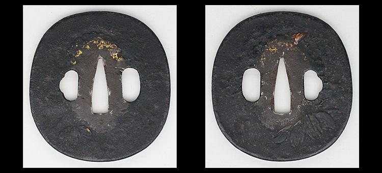 日本刀、無銘(延寿國秀)、鍔