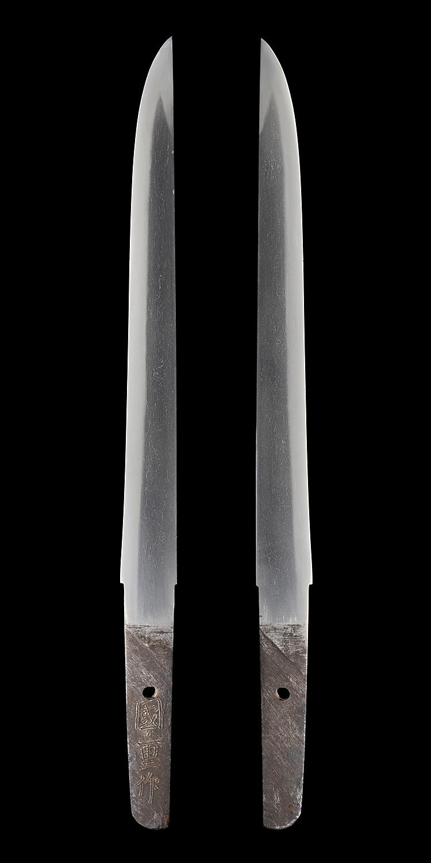 短刀、國重作(出羽)、刀身