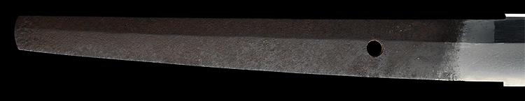 日本刀、上野介源吉正(武蔵)、茎